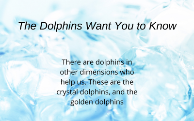 Crystal and golden dolphin helpers